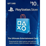 Playstation Network Psn Tarjeta Gift Card 10 D. Buen Fin