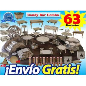 Candy Bar 63 Productos Gigante! Mdf Fibrofacil Envio Gratis!