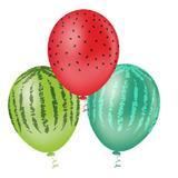 Balão Látex Bexiga Fruta Melancia N 10- 25 Unidades