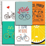 Placas Decorativas Bike Bicicleta Retro Antigas 20x28