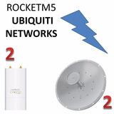 Enlace Punto A Punto Ubiquiti Rocket M5 Y Txpro Antena 34dbi
