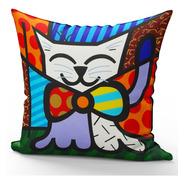 Almofada Decorativa Gato Mod 3 Romero Britto