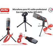Microfono P/ Pc Estilo Profesional C/tripode Kolke (kpi-047)