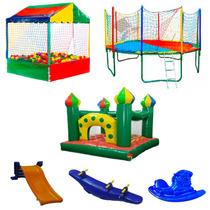 Kit Com 6 Brinquedos Para Playground Piscina De Bolinhas + 5