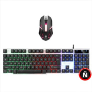 Combo Gamer F92 / Teclado Y Mouse Con Luces Multicolor / Usb
