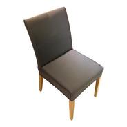 Kit 8 Unidades Capa De Cadeira Cinza - Malha Resistente