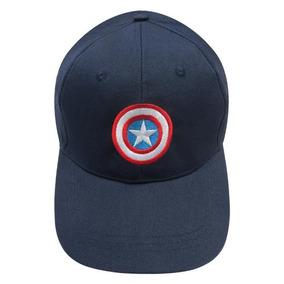 Gorra Juvenil Masculino Marvel Capitán América_color Negro