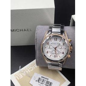 13a3a40711fce Relogio Feminino Quadrado Prata - Relógio Michael Kors no Mercado ...