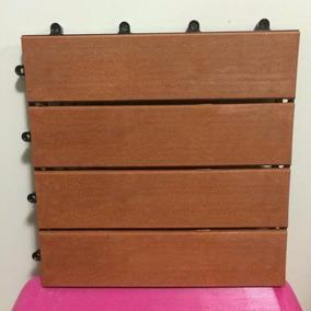 Kit Com 10 Decks De Madeira Plastica Modular 30x30
