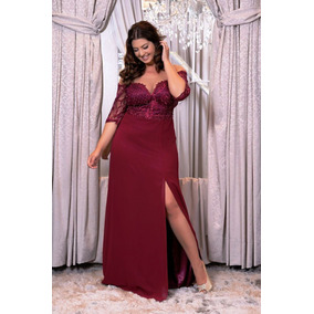 Vestido Marsala Plus Size/madrinha/casamento/pronta Entrega