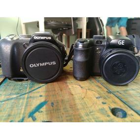 2 Câmeras Semi-profissionais (olympus Sp550 E Ge X5)