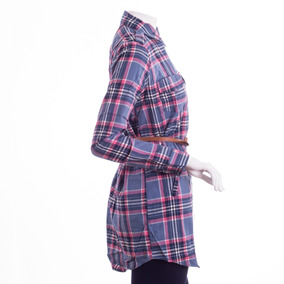 Camisola Mujer Escocesa Con Cinturón