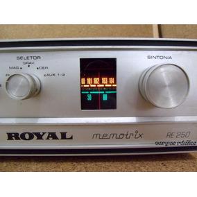 Amplificador Receiver Royal Vintage Fm Estereo Entrada Vinil