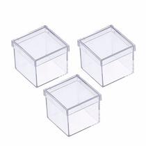 50 Caixinha De Acrílico 5x5 Para Lembrancinhas - Promoção