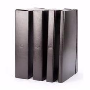 Caja Archivo Fibra Negra Lomo 8 Cm Util-of
