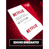 Cartao Netflix Com Desconto! 30 Dias