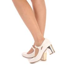 Sapato Boneca Salto Feminino Lara - Branco