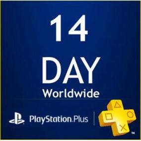 Pacote Playstation Psn Plus 14 Dias - 8 Unid. Ps3/ps4