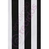Tecido Gorgurinho Listrado Preto E Branco Painel 15m X 1,5m
