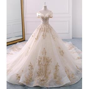 Vl25 Vestido De Noiva Luxo Princesa Cauda Importado Renda