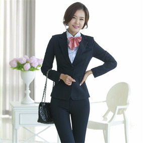 Conjunto Calça E Blazer Terninho Feminino Executiva Elegante
