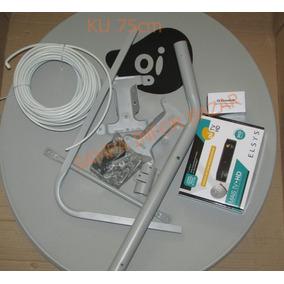Kit Oi Tv Livre Hd C/ Antena 75cm