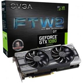 Placa Vga Evga Geforce Gtx 1080 8gb Ftw2 Dt Frete Grátis