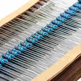 Kit 300 Resistencias 5% Valores Diversos Arduino Metal 1/4w