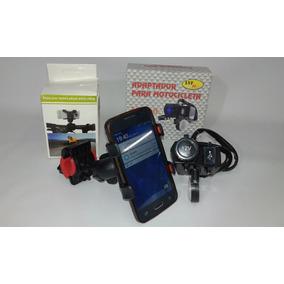 Combo Toma 12 V & Usb Motos Con Soporte Pinza Cell & Gps