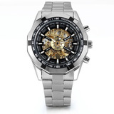 Reloj Acero Inoxidable Winner Automático Diseño Unico