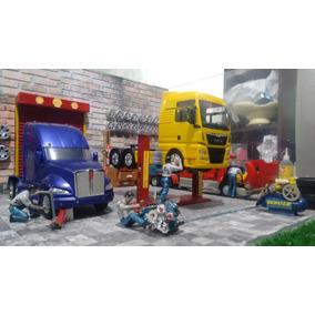 Diorama Oficina Mecanica Para Caminhãos - 1/32 - 1/43 - 1/50