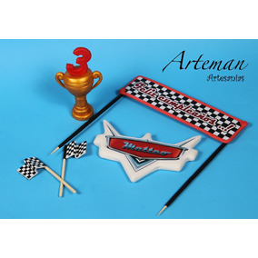 Accesorios Cars, Rayo Mc Queen Porcelana Fria, Para Torta