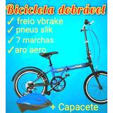 Bicicleta Dobrável Nova + Capacete + Squeeze