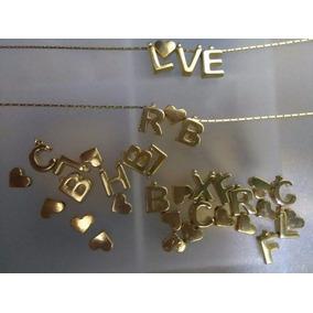 Iniciales 1cm Transversales Joyeria Collares Chapa Oro 18k