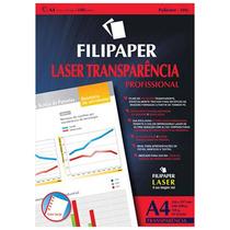 Transparência Com Tarja Laser   100 Folhas - Filipaper