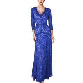 Vestido Largo De Fiesta Color Azul Rey Ropa Mujer