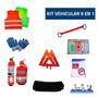 Matafuego Para Auto Kit 9en1 Con Tarjeta Patente Vtv Ruta