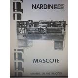 Manual De Instrução Torno Mascote Ms-350