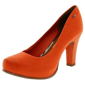 Sapato Feminino Salto Alto Laranja Dakota - B7891