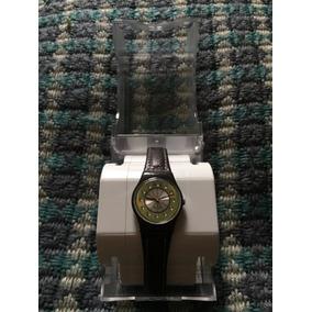 Reloj Swatch Mujer Correa Cuero Y Cristales