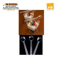 Mini Cucharitas 11,5cm - Para Shots Bocaditos Postre X25 Un