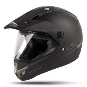 Casco Cross Mx630 Negro Mate Visor Visera Nitro 630 Fasmotos