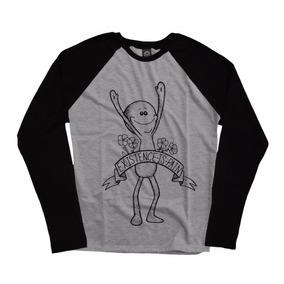Blusa Camiseta Manga Longa Raglan Series Swag Rick And Morty