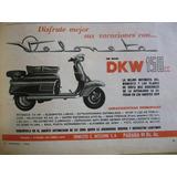 Moto Veloneta Dkw Publicidad Grafica Año 1963