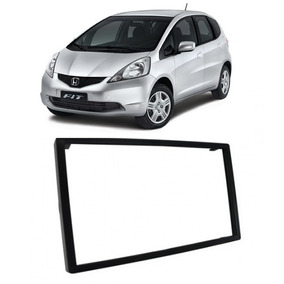 Moldura Painel 2 Din Dvd Multimidia Honda Fit 04 A 2007 2din