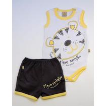 Conjunto Body + Shorts Tigre Bicho Molhado