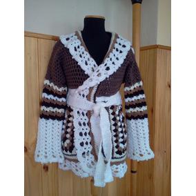 Saco Tejido Al Crochet Lana