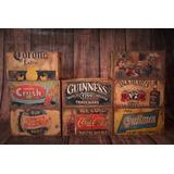 Cajones Deco Retro Vintage Grandes Coca/pepsi/cerveza/whisk