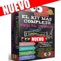 Kit Imprimible Mega Empresarial Oro Candy Bar Nuevos Kits
