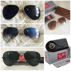Kit Com 8 Óculos De Sol Ray Ban Aviador Atacado Rb3025/3026